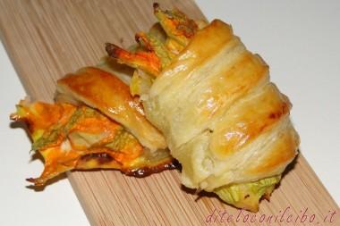 Fiori di zucchina in crosta