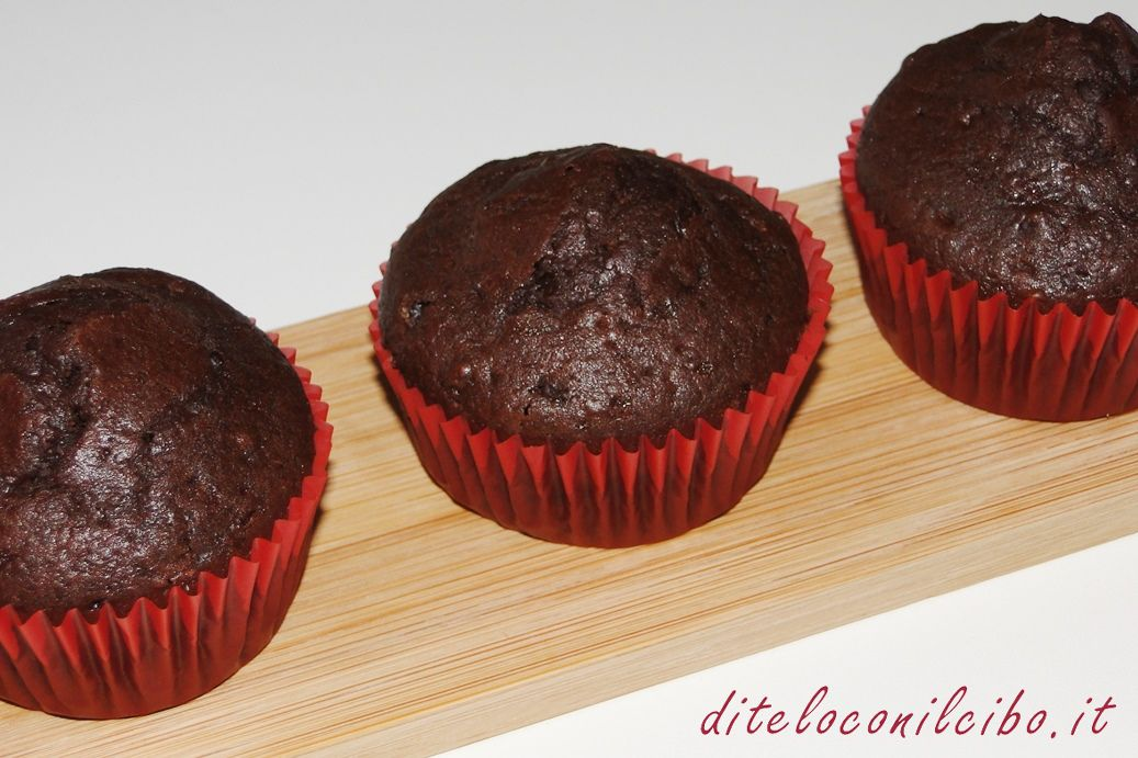 Muffin al cacao e cioccolato