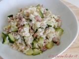 Risotto con salsiccia e zucchine